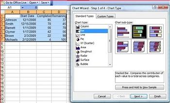 Cara membuat Gantt Chart di Excel