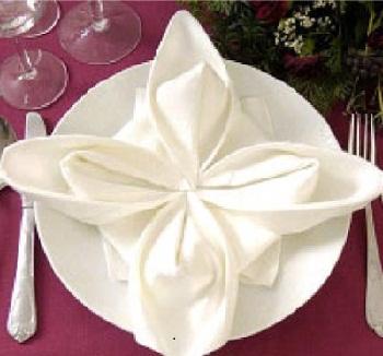 cara membuat napkin folding
