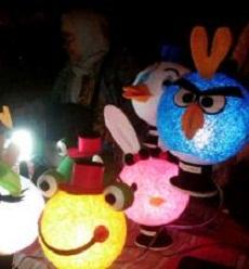 Cara Membuat Lampu Hias Dari Benang
