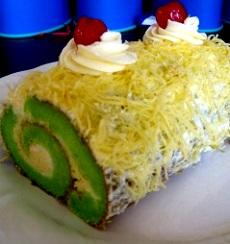 resep kue bolu gulung pandan dan keju